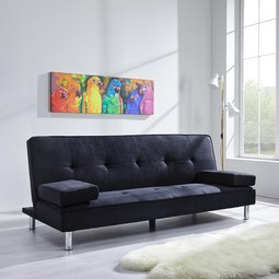 XL Schlafsofa Esther inkl. 2 Kissen - Dunkelgrau, MODERN, Textil/Metall (200/80/83cm) - MÖMAX modern living