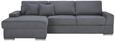 Kotna Sedežna Garnitura Kuba - siva/krom, Moderno, kovina/umetna masa (166/90/294cm) - Mömax modern living