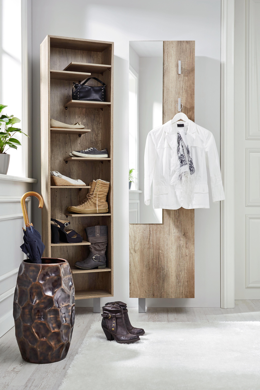 Schuhschrank in Wildeiche                                        , 3 Haken - Eichefarben, MODERN, Holz/Holzwerkstoff (45/176 + 10/25cm) - MÖMAX modern living