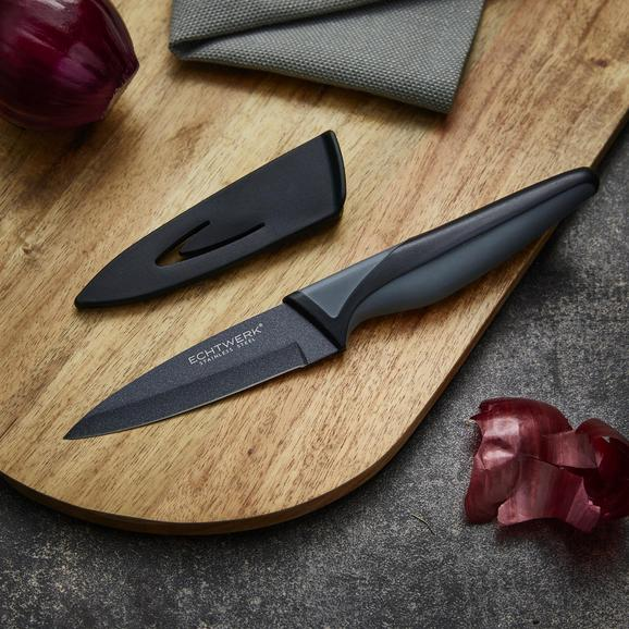 Echtwerk Schälmesser Blacksteel - Schwarz, MODERN, Kunststoff/Metall (19,5cm) - Echtwerk