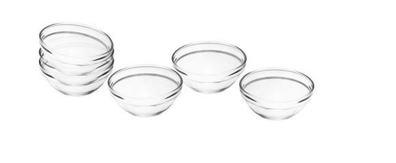 Schüsselset Petra aus Glas, 6-teilig - Klar, Glas (7,5/3,5cm) - Mömax modern living