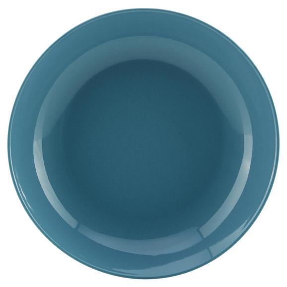 Globoki Krožnik Sandy - modra, Konvencionalno, keramika (20/3,5cm) - Mömax modern living