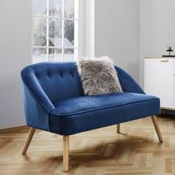 Bank Sophia - Blau, MODERN, Holz/Textil (126,5/77/75cm) - Mömax modern living