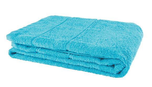 Duschtuch Melanie Aqua - Blau, Textil (70/140cm)