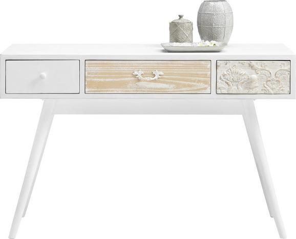 Schreibtisch in Weiß - Weiß, ROMANTIK / LANDHAUS, Holz/Holzwerkstoff (120/40/75cm) - PREMIUM LIVING