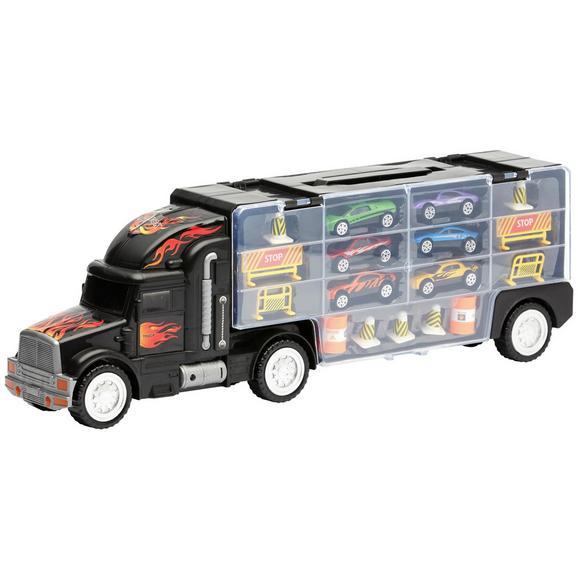 Spielzeugauto Super Racer, 16-teilig - Schwarz, Basics, Kunststoff/Metall (48,8/15,7/10cm)