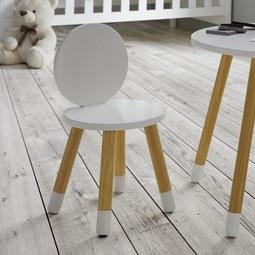 Kinderstuhl in Weiß/ Pinienfarben 'Leni' - Weiß/Pinienfarben, MODERN, Holz (27,4/51cm) - Bessagi Kids