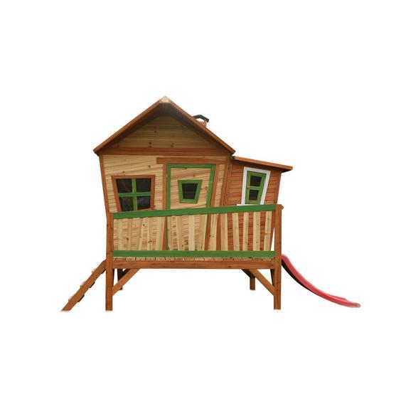 Spielhaus Emma aus Zedernholz Massiv - Rot/Braun, Basics, Holz (345/229/180cm)