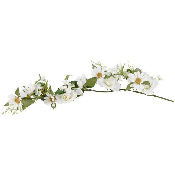 Umetna Roža Lisa - zelena/bela, Romantika, kovina/umetna masa (62cm)