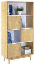 Schrank Aliona - Eschefarben/Naturfarben, MODERN, Holz (80/160/38cm) - Modern Living