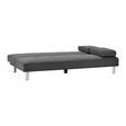 Sofa mit Schlaffunktion in Grau 'Esther' - Chromfarben/Dunkelgrau, MODERN, Holz/Textil (181/89/82cm) - Bessagi Home