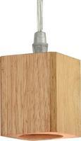 Hängeleuchte Loga, max. 60 Watt - Naturfarben, Holz/Metall (9/120cm) - Premium Living