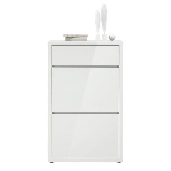 Schuhschrank in Weiß Hochglanz - Weiß, MODERN, Holzwerkstoff (64/105,2/36cm) - Mömax modern living