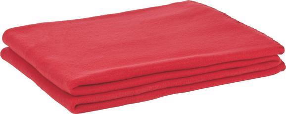 Fleecedecke Trendix - Rot, MODERN, Textil (130/180cm) - Mömax modern living