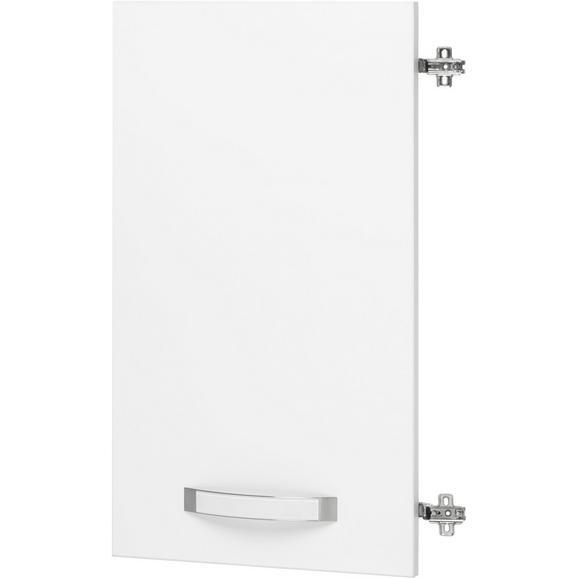 Tür in Weiß Hochglanz - Weiß, MODERN, Holzwerkstoff/Metall (39.4/70.1/1.8cm) - Premium Living