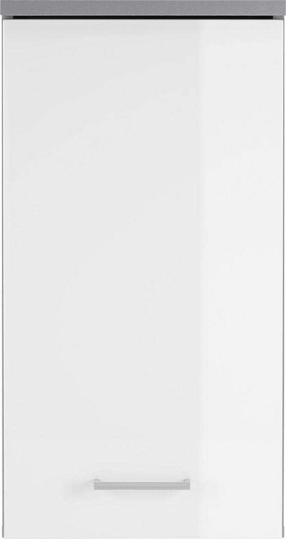 Oberschrank in Weiß/Grau - MODERN, Holzwerkstoff (40/77/23cm) - MÖMAX modern living