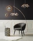 Stenska Led-svetilka Alisia - Moderno, kovina/umetna masa (12,1/19cm) - Insido