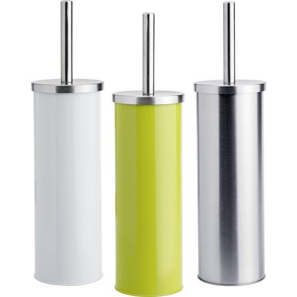 Garnitură Perie Wc Beate - argintiu/alb, Konventionell, plastic/metal (9,5/26,7cm) - Modern Living