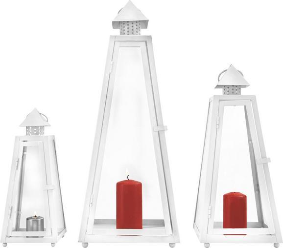 Lámpás Wendy - tiszta/fehér, romantikus/Landhaus, üveg/fém - MÖMAX modern living