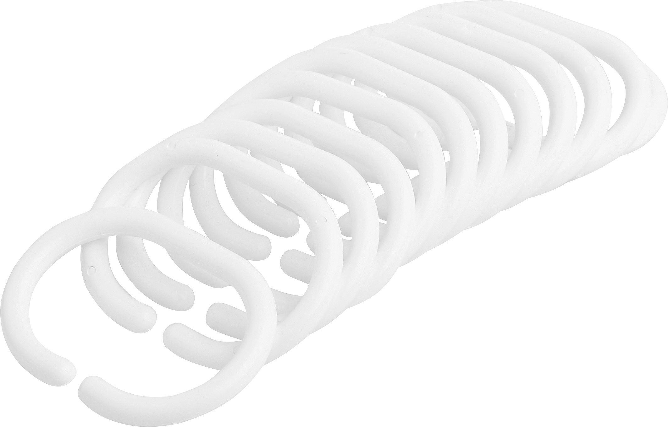 Függönykarika Zuhanyfüggönyhöz - fehér (5/6cm)