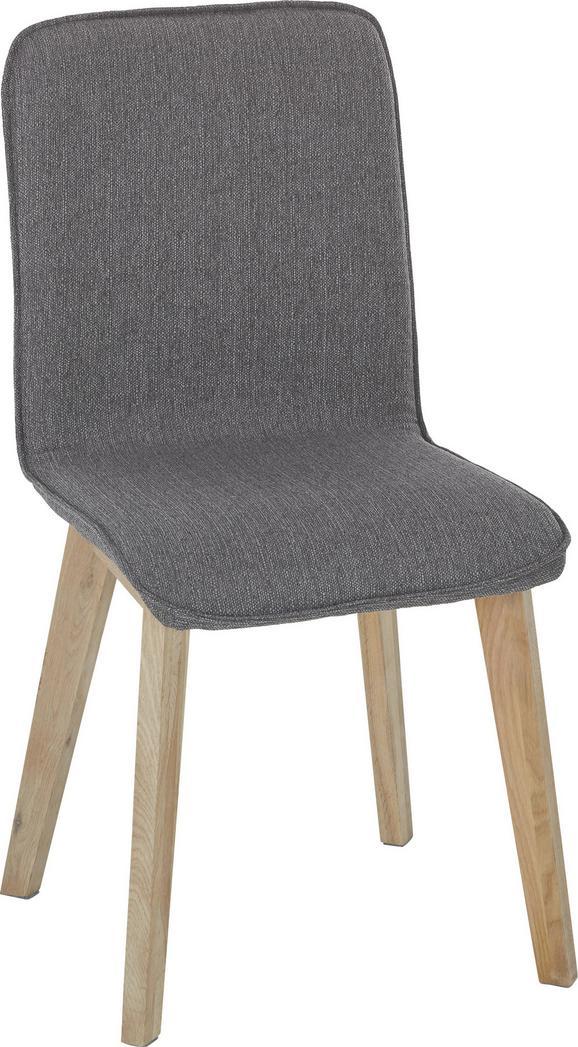 Stuhl in Grau/Eichefarben - Eichefarben/Grau, Design, Holz (48/92/57cm)