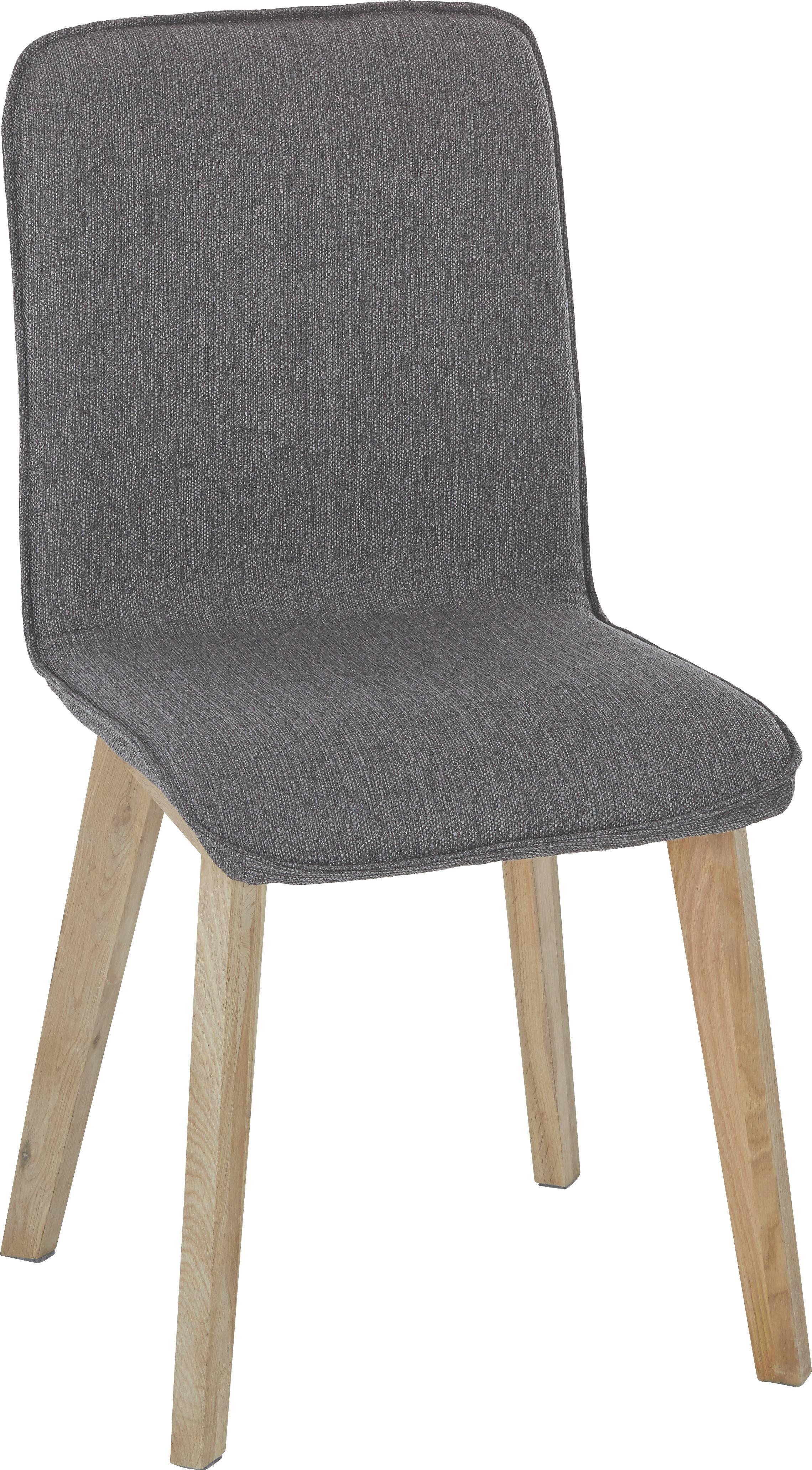 Szék Fornax - tölgy színű/szürke, modern, fa (48/92/57cm)