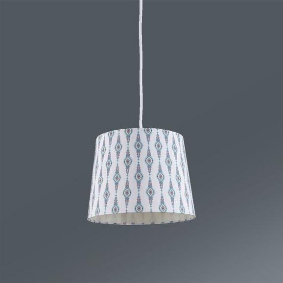 Leuchtenschirm Asala max. 60 Watt - Multicolor/Weiß, LIFESTYLE, Textil (16,5-20/15,6cm) - Mömax modern living