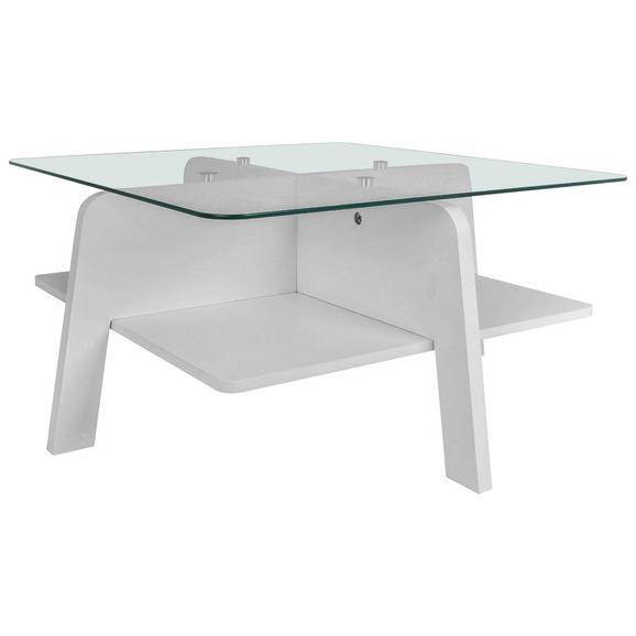 Couchtisch in Weiß - Klar/Weiß, MODERN, Glas/Holzwerkstoff (70/31,5/70cm) - Mömax modern living