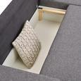 Wohnlandschaft Grau - Platinfarben/Graphitfarben, KONVENTIONELL, Kunststoff/Textil (285/85/185cm) - Modern Living