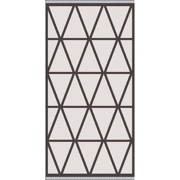Flachwebeteppich Phoenix ca. 80x150cm - Anthrazit/Silberfarben, MODERN, Textil (80/150cm) - Modern Living