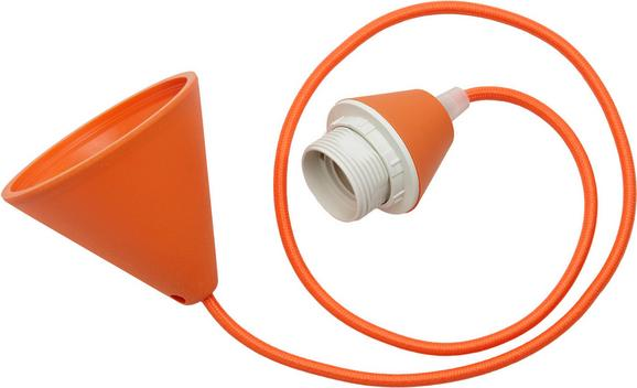 Schnurpendel Coli in Orange, max. 60 Watt - Orange, Kunststoff/Textil (120cm)