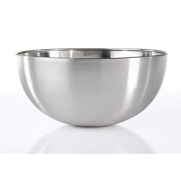Schüssel Vinzent aus Metall Ø ca. 29cm - Edelstahlfarben, MODERN, Metall (29/13cm) - Mömax modern living