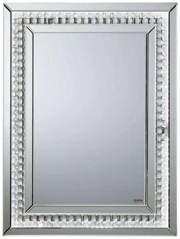 Wandspiegel Silber - MODERN, Glas/Kunststoff (60/80/3,5cm) - Modern Living