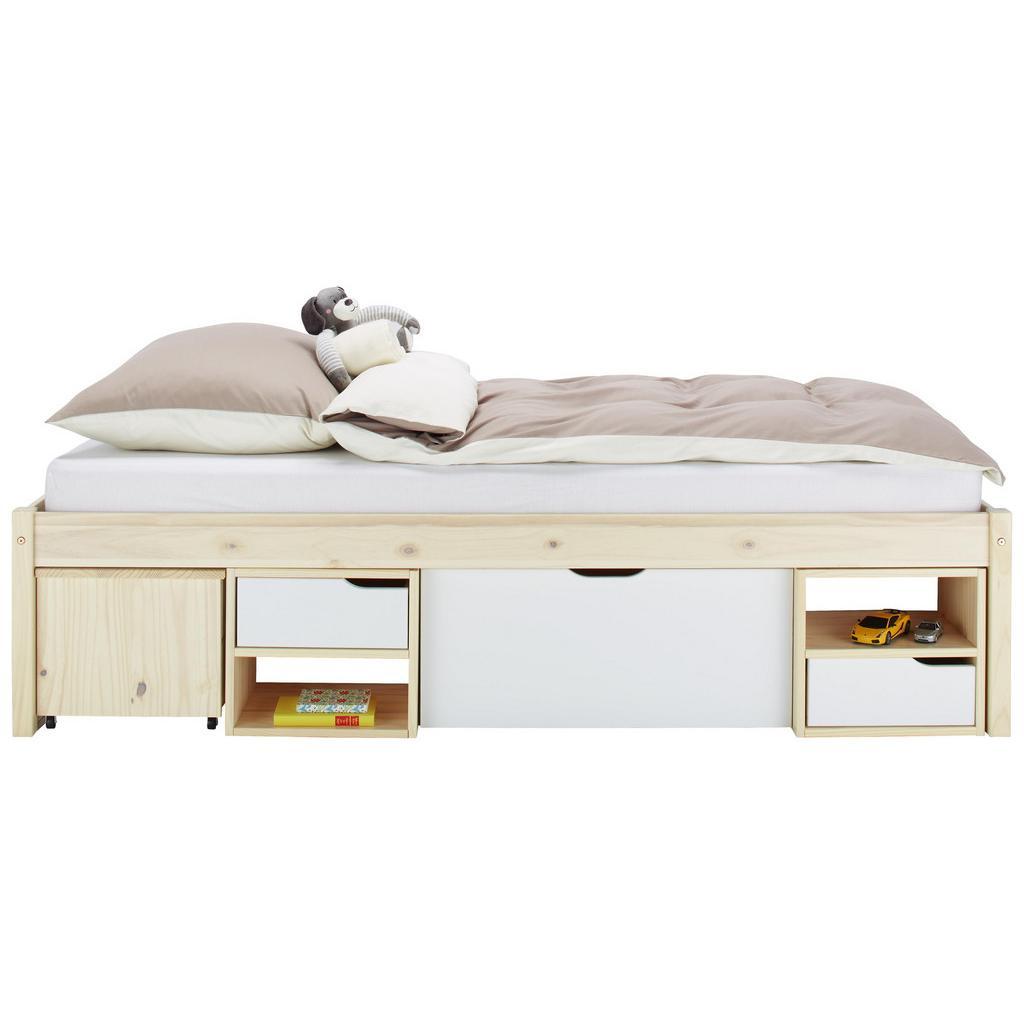 bett natur wei 90x200cm haustechnik thiel. Black Bedroom Furniture Sets. Home Design Ideas