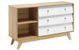 Sideboard Enny - Weiß/Kieferfarben, MODERN, Holz (120/70/35cm) - Modern Living