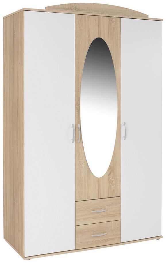 Ruhásszekrény Touch - Fehér, konvencionális, Faalapú anyag (127/196/52cm)