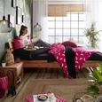 Lenjerie De Pat Iris - negru, textil (140/200cm) - Modern Living