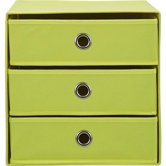 Schubladenbox Mona ca. 32x31,5cm - Gelb, MODERN, Karton/Textil (32/31,5/32cm) - Mömax modern living
