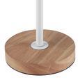 Tischleuchte Mauricio - Weiß, MODERN, Holz/Metall (18/15/30cm) - Modern Living