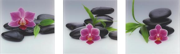 Glasbild Purple Moods, ca. 30x90x1,7cm - Multicolor, MODERN, Glas (30/90/1,7cm) - Mömax modern living