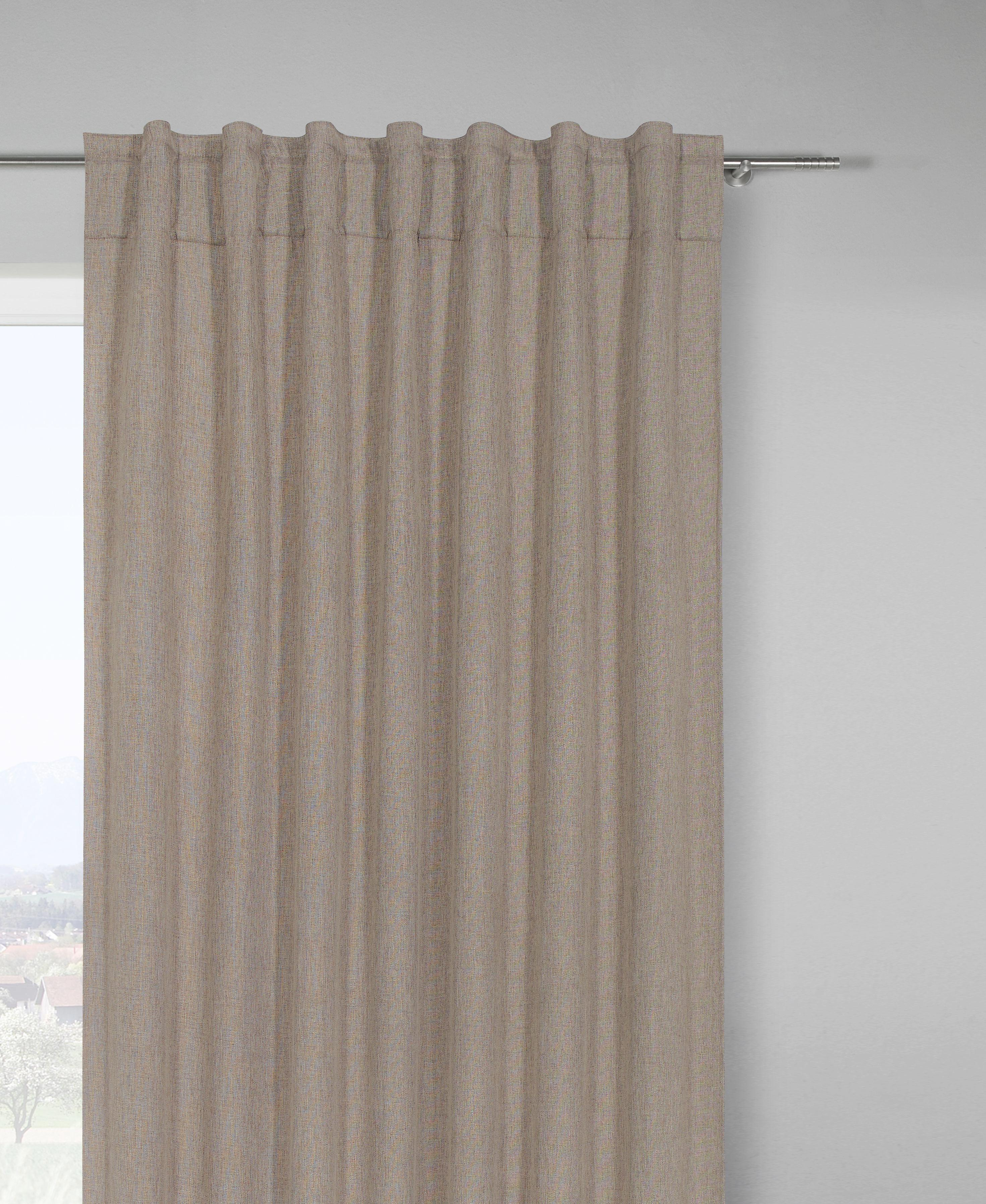 Készfüggöny Jakob - barnásszürke, textil (140/245cm) - MÖMAX modern living