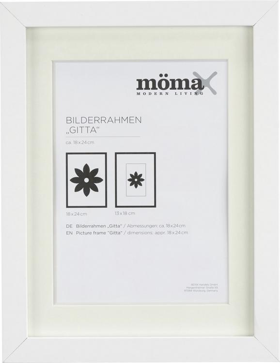 Bilderrahmen Gitta Weiß ca. 18x24cm - Weiß, MODERN, Glas/Holz (18/24cm) - Mömax modern living