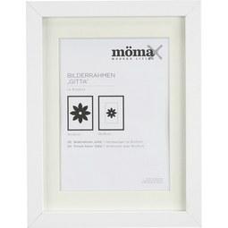 Bilderrahmen Gitta Weiß ca. 18x24cm - Weiß, MODERN, Glas/Holzwerkstoff (18/24/3,6cm) - Mömax modern living