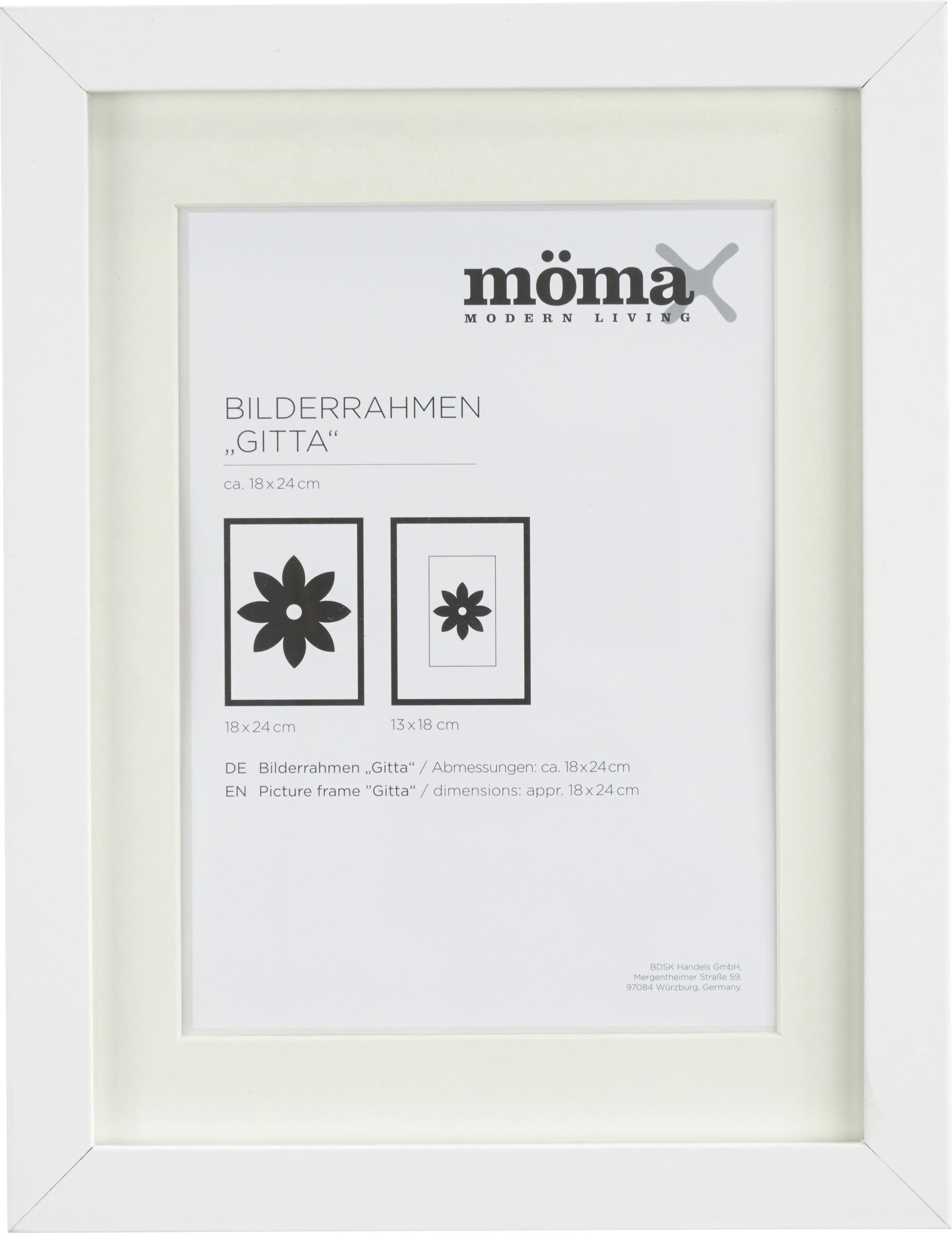 Képkeret Fa - fehér, modern, üveg/fa (18/24cm) - MÖMAX modern living