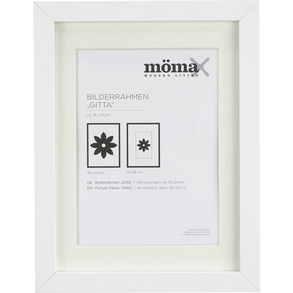 Képkeret Gitta - Fehér, modern, Faalapú anyag/Üveg (18/24/3,6cm) - Mömax modern living