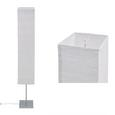 Stehleuchte Antonio, max. 40 Watt - Silberfarben/Weiß, KONVENTIONELL, Papier/Metall (25/159/25cm) - Mömax modern living