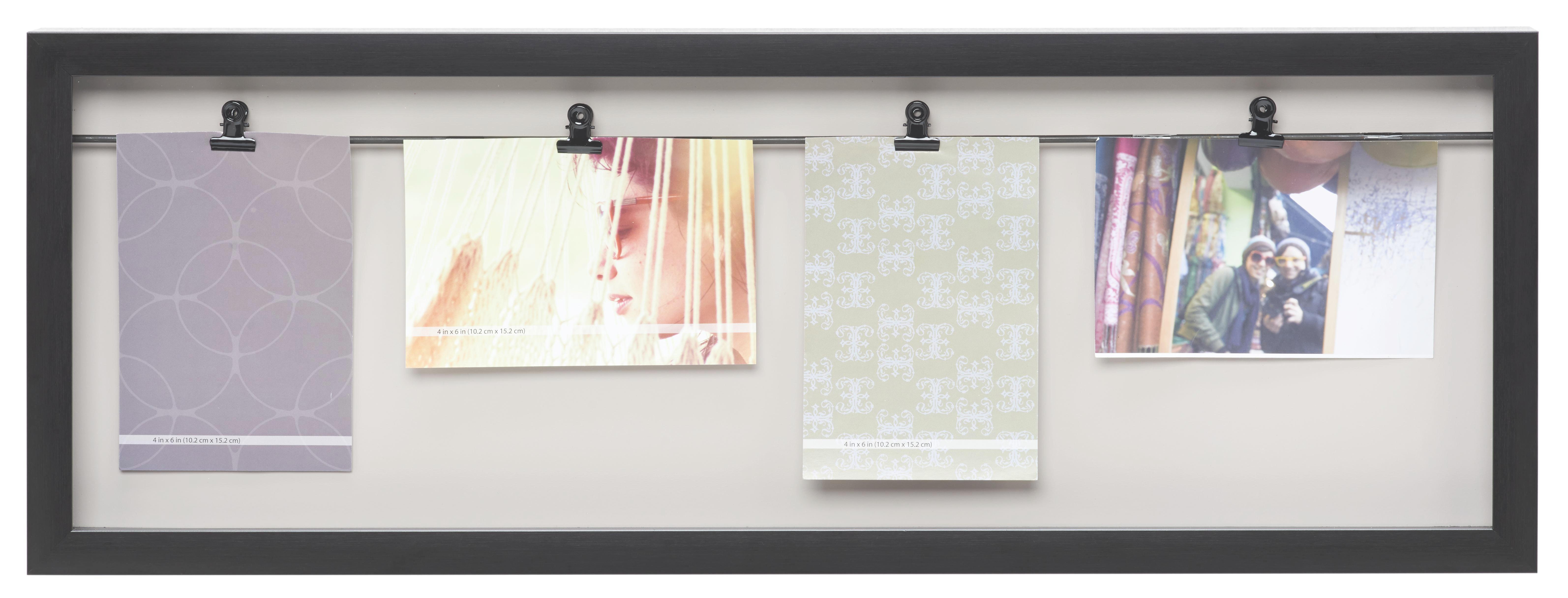 Fotohalter Casius, ca. 65,3x24x3,5cm - Schwarz, MODERN, Kunststoff (65,3/24/3,5cm) - MÖMAX modern living