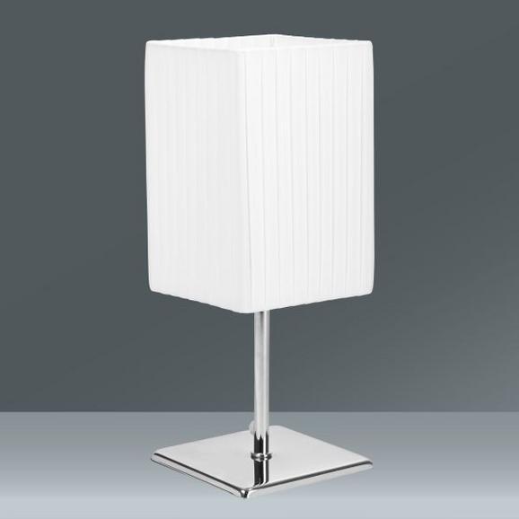 Tischleuchte Agnes, max. 40 Watt - Weiß, MODERN, Textil/Metall (25cm) - Mömax modern living
