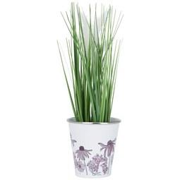 Pflanzentopf Poppyseed in Weiß - Multicolor, Metall (11,5/12cm)