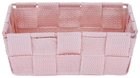 Aufbewahrungskörbchen Carina Rosa - Rosa, Kunststoff (15/10/5,5cm)
